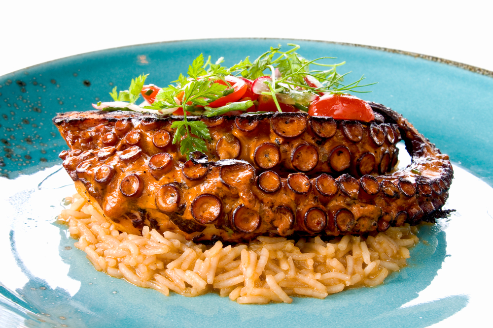 Mexican Octopus dish with rice